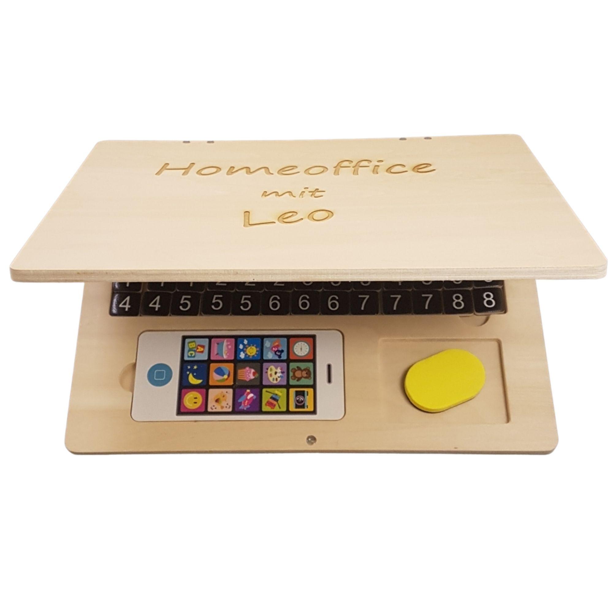 Kinder-Laptop aus Holz