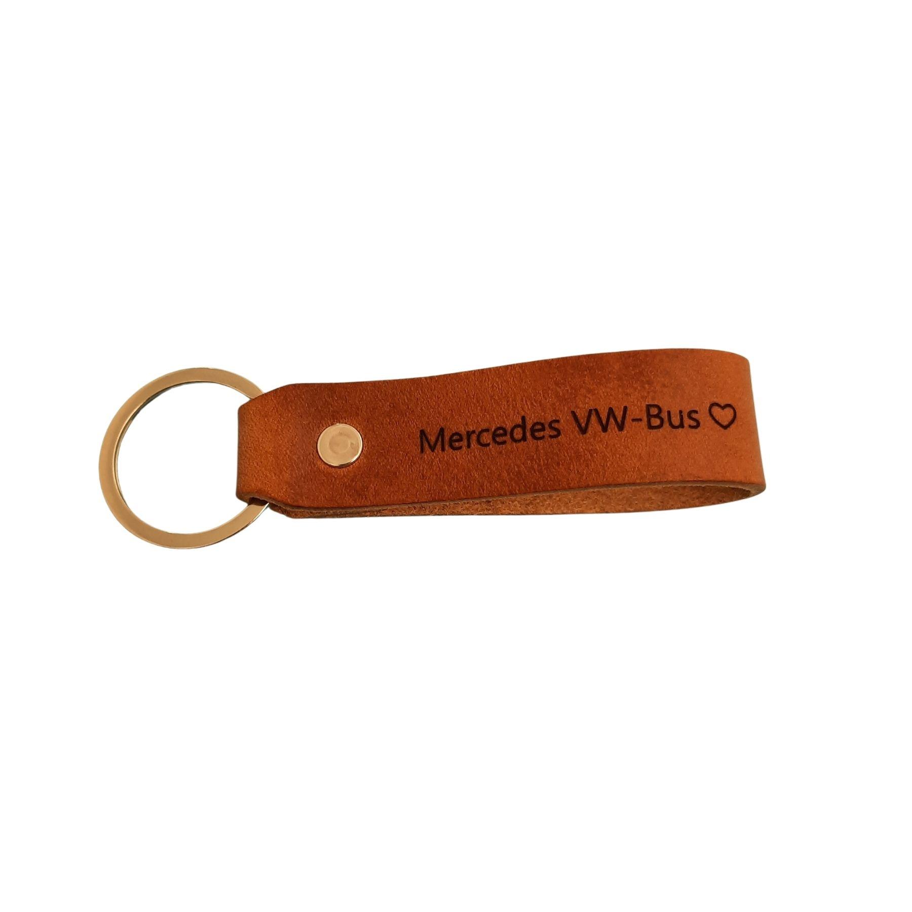 Leder Schlüsselanhänger hell aus Allgäu-Rindleder mit Wunschtext
