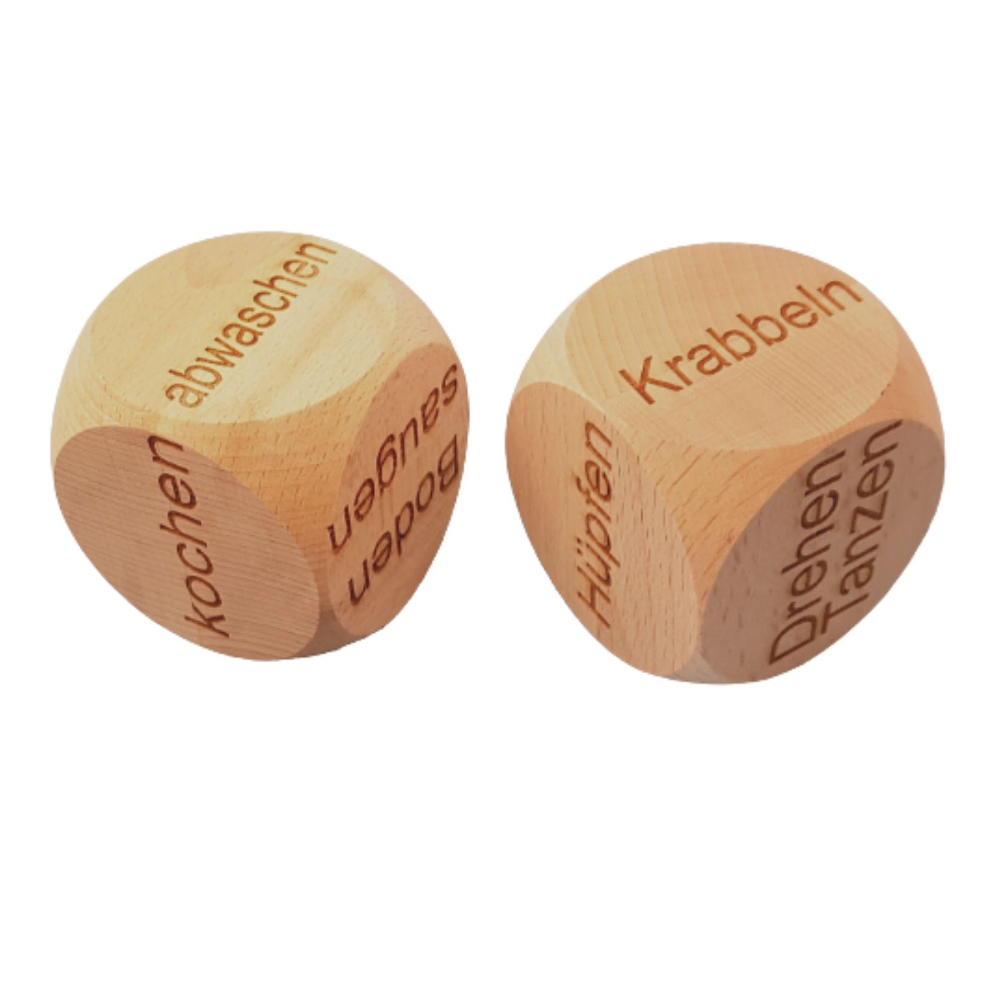Holzwürfel individuell graviert