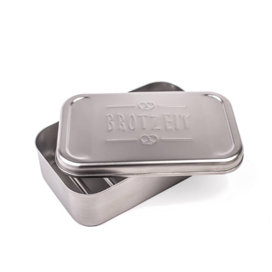 Brotzeitbox Eco aus Edelstahl