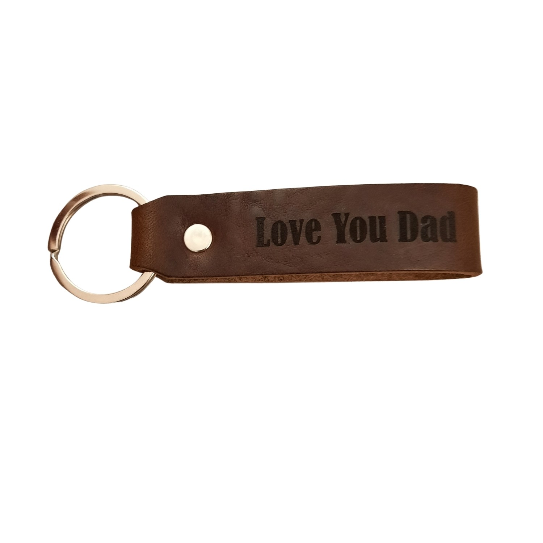Leder Schlüsselanhänger aus Allgäu-Rindleder mit Wunschtext