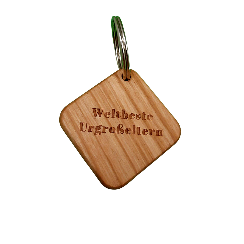 Kirschholz Schlüsselanhänger personalisiert